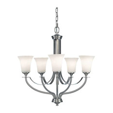 F2252/5 Barrington 5-Light Chandelier, Brushed Steel