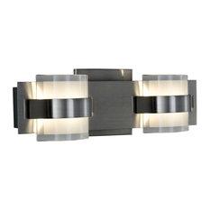"Rogue Decor 611170 Restraint 2 Light 13-3/4""W Integrated LED - Chrome"
