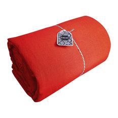 Amandine Linen Flat Sheet, Flamenco, 180x290 cm
