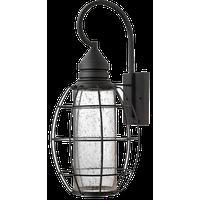 """Wall Sconce 1-Light With Black Clear Seedy Aluminum GU10 Bulb, 24"""""""
