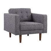 Element Mid-Century Modern Chair, Walnut, Dark Gray