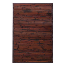 natural rug co dark chocolate bamboo rug area rugs