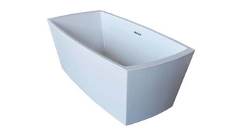 "Venzi Vida Collection Acrylic Freestanding Bathtub, 32"" x 67"" Rectangular"
