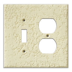 InvisiPlate 2 Outlet Single Toggle Combo Paintable Plate Cover, Knock-Down