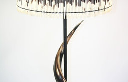 Porcupine Quill Shades & Antelope Horn Table Lamps