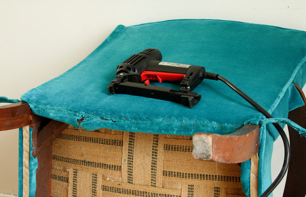 How To Replace A Button On A Tufted Chair
