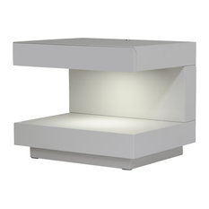 Modrest Esso Modern Gray Nightstand