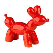 Bubble Chien décoratif en céramique rouge H18.5cm