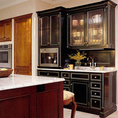 2 tone stained kitchen cabinets 2 tone cabinets both stained pictures 10115