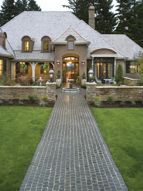 French country courtyard houzz for French country courtyard