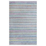 Company C - Confetti Indoor/Outdoor Rug, 26x5 - A cheerful addition to indoor or outdoor spaces, Confetti features a multitude of space-dyed colors in an array of textural stitches. Woven by hand using 100% polyester yarns that have been crafted of recycled plastic bottles, the easy-care surface is durable enough to withstand an abundance of traffic while remaining soft and supple underfoot. Fun and versatile - pair it up with our bright tropical rugs.