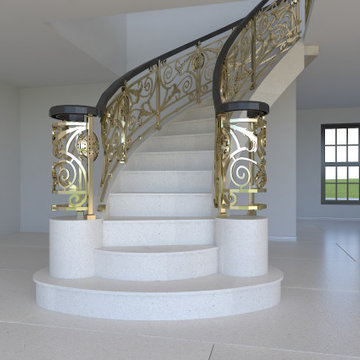 Snow White Limestone Floor and Steps