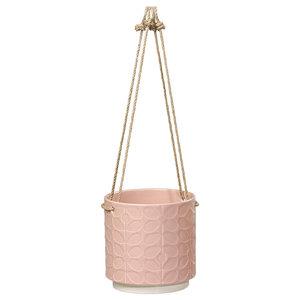 Orla Kiely Ceramic Hanging Pot, Medium Rose
