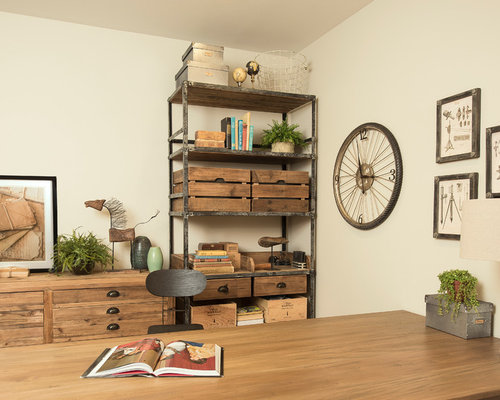 159 Small Industrial Home Office Design Ideas & Remodel Pictures - Houzz - 웹