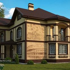 Фасады частного двухэтажного дома