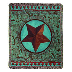 Western Star Red, 50X60 Tap Throw
