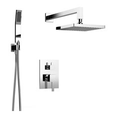 Holden Shower Set For Two, All Inclusive, Individual Functions, Polished Chrome