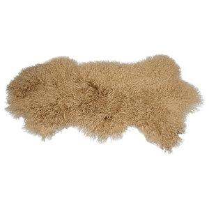 Barista Tibetan Fur Throw, Latte Beige