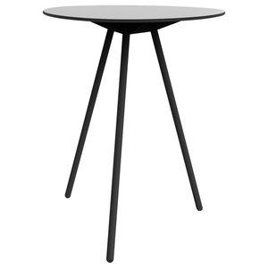 A-Lowha High Table, Grey, Black Frame