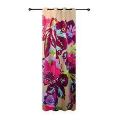 Multicolour Tropical Blooms Curtain