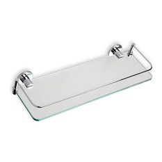 Clear Glass Bathroom Shelf, Chrome