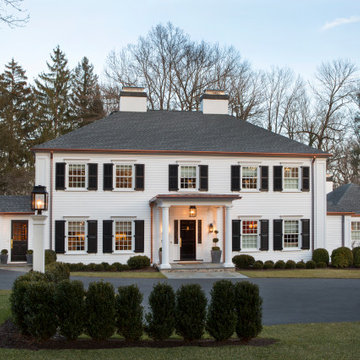 Exterior Renovation of Colonial Home with Copper Accents