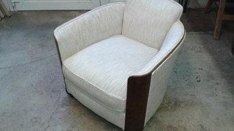 Réfection d'un fauteuil style Art Déco
