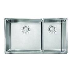 Franke Cube 31-1/2-In Single Basin Undermount 18 Gauge Kitchen Sink, Stainless