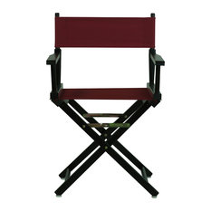 """18"""" Director's Chair With Black Frame, Burgundy Canvas"""