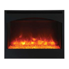 Zero Clearance Series Built-In Electric Fireplace with Arched Frame, 31""