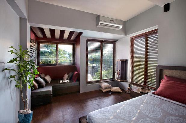 Contemporary Bedroom Asian Bedroom