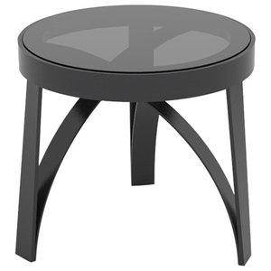 Arco Black Ash Side Table