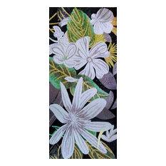 "Mosaic Designs, Glass Flowers, 31""x71"""