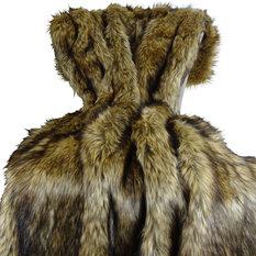 Thomas Collection Faux Fur Luxury Bedding Throw Blanket 16406 60Wx96L