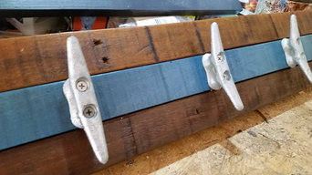 Boat Cleat Racks with Reclaimed Hardwoods