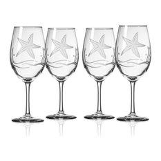 Starfish White Wine Glass, 12 oz, Set of 4