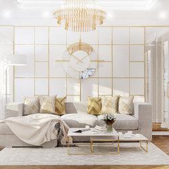 Квартира 125м2 | Золото и пудра #золотоипудра