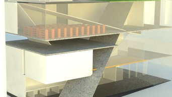 Rendered Outside Perspective of Multipurpose Design