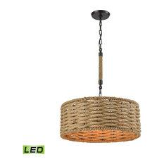 Weaverton 3-Light LED Chandelier, Oil Rubbed Bronze