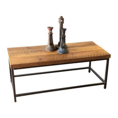 Stoic Reclaimed Wood Coffee Table With Steel Base