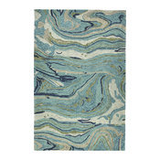 Kaleen Marble MBL03-65 Hand-Tufted Rug, Teal, 8'x11'