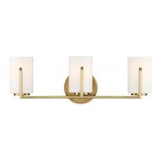 3 Light Bath Bar by Designers Fountain 93903-BG in Gold Finish