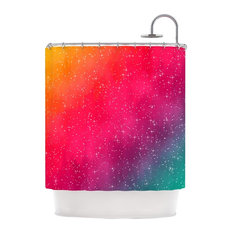 """Fotios Pavlopoulos """"Colorful Constellation"""" Pink Glam Shower Curtain"""