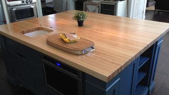 Maple Edge grain wood counter tops