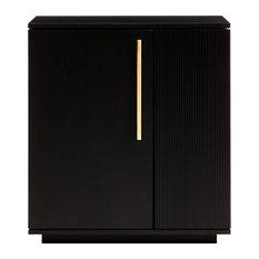 Carousel Bar Drinks Cabinet, Black