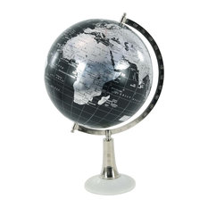 Eclectic Marble and Plastic Globe, Black