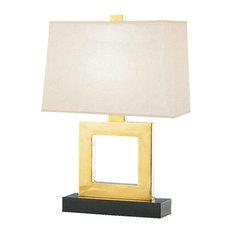 Robert Abbey Doughnut Table Lamp, Natural Brass