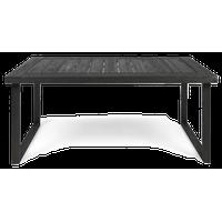 "GDF Studio Ann Outdoor 69"" Acacia Wood Dining Table, Sandblast Dark Gray Finish"