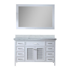"Kensington 55"" Single Sink Vanity Set, White"