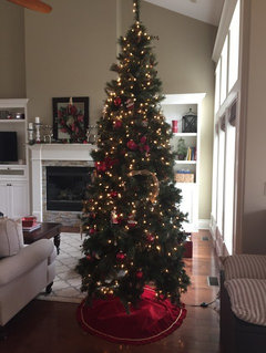 our main tree in the living room 9 foot tall it is hard to get a good picture - 14 Foot Christmas Tree